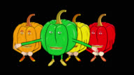 4 Bell Peppers Cartoon-Transparent-Silent Intro video