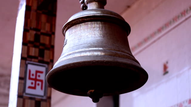 Bell ringing at Hindu temple video