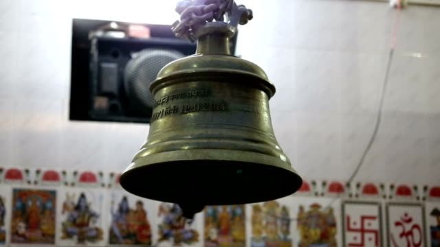 Bell ringing at temple during prayer video