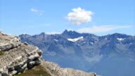Belledonne Mountain range time lapse. video