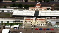Belo Horizonte Railway Station  - Aerial View - Minas Gerais, Belo Horizonte, Brazil video