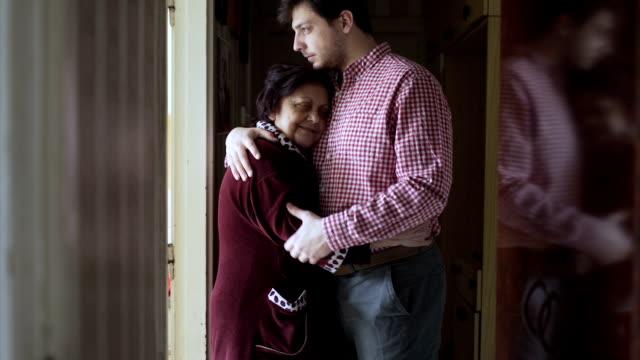 Beloved grandmother follow her grandson at work video