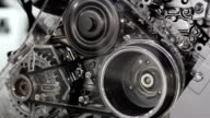 belt and gears car engine video
