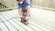 Belt Sander Sanding Deck Boards video