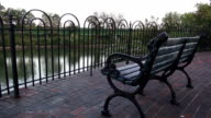 bench at Newport Riverside  - CINCINNATI, OHIO USA video