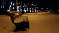 Benches in Winter - Time Lapse video