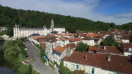 Benedictine Abbey of Brantome and river and surrounding video