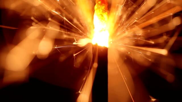 Bengali New Year's lights. Fireworks video