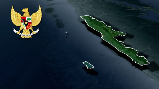 Bengkulu with Coat Of Arms Animation Map video