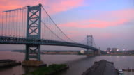 Benjamin Franklin Bridge HD timelapse video