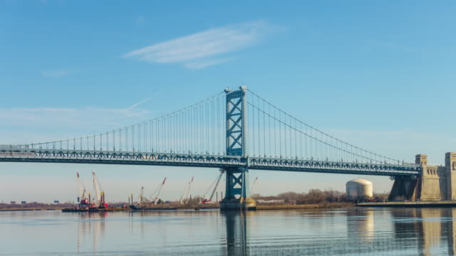 Benjamin Franklin Bridge in Philadelphia PA video