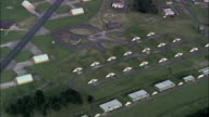 Bentwaters Disused Airfield  - Aerial View - England, Suffolk, Suffolk Coastal District, United Kingdom video