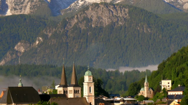 Berchtesgaden in the alps of bavaria with mountains video