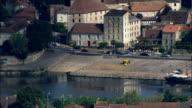 Bergerac  - Aerial View - Aquitaine, Dordogne, Arrondissement de Bergerac, France video