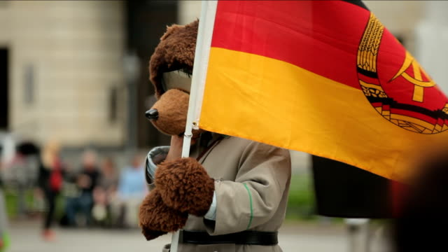 Berlin bear with eastern Germany flag video