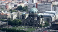 Berlin Cathedral  - Aerial View - Berlin,  Berlin,  Stadt,  Germany video