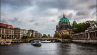 Berlin Cathedral and Spree river time lapse video