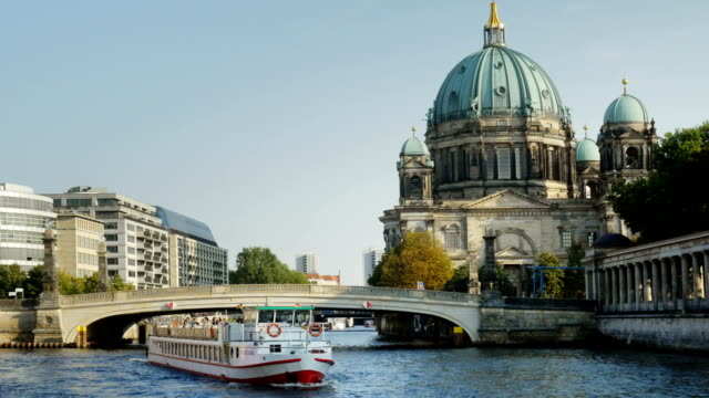 Berlin Cathedral On Spree River (4K/UHD to HD) video