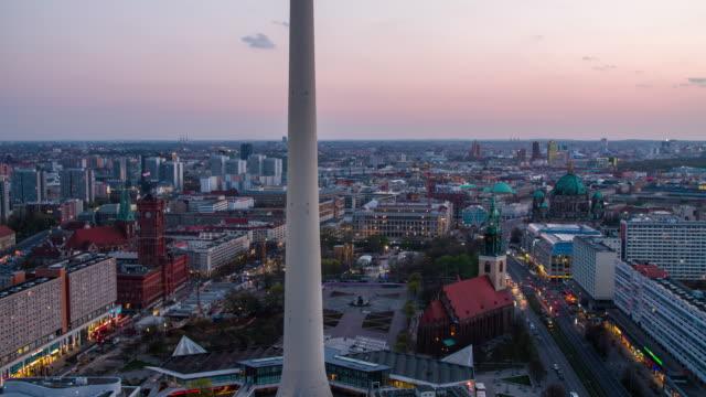 Berlin Cityscape at Alexanderplatz video
