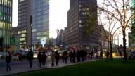 Berlin Potsdamer Platz at Christmas Time video