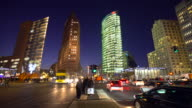 Berlin Potsdamer Platz at sunset, Time Lape video