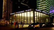 Berlin Potsdamer Platz Station At Night (4K/UHD to HD) video