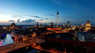 Berlin Skyline Timelapse with Traffic in Full HD 1080p video
