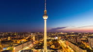 Berlin Skyline with TV-Tower by sunset video