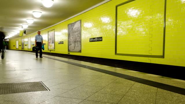 Berlin subway time lapse video