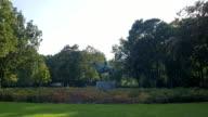 Berlin Tiergarten park monument in summer video