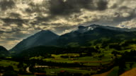 Berner Oberland Farmland swiss mountain landscape time lapse video