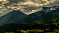 Berner Oberland mountain landscape time lapse Switzerland video