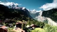 Bernese Alps panorama of Jungfrau Switzerland video