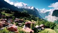 Bernese panorama of Jungfrau ALPS video