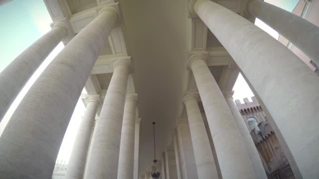 Bernini Columnade at Saint Peter Square in Vatican video
