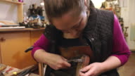Bespoke Shoemaker Pinning Leather Together To Make Shoe video