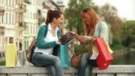 HD SLOW-MOTION: Best Friends Shopping video