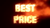 Best Price With Fire Effect - Alpha Channel video