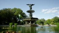 Bethesda Fountain in Central Park, New York City. video