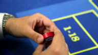 HD CLOSE UP: Betting at roulette table video