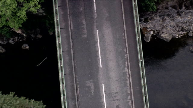 Betws-Y-Coed And Waterloo Bridge  - Aerial View - Wales, County Borough of Conwy, United Kingdom video