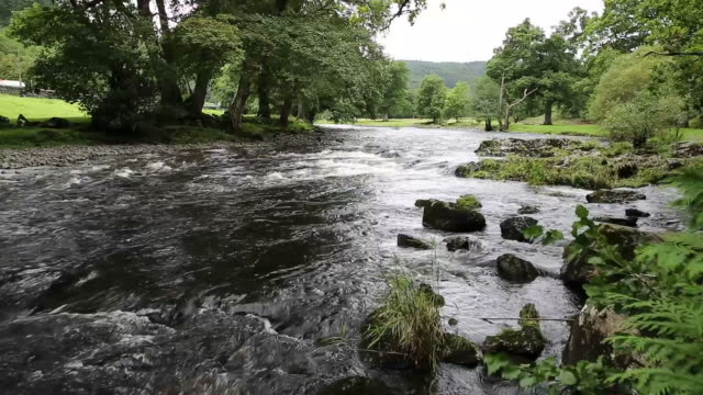 Betws-y-Coed Wales UK Snowdonia National Park river walk to Swallow falls video