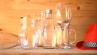Beverage glass sets, Dolly Shot. video