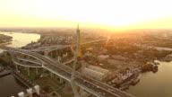 bhumibol bridge bangkok thailand video