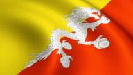 Bhutan Flag Loopable video