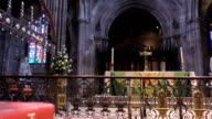 Bible and altar in Manchester Cathedral video