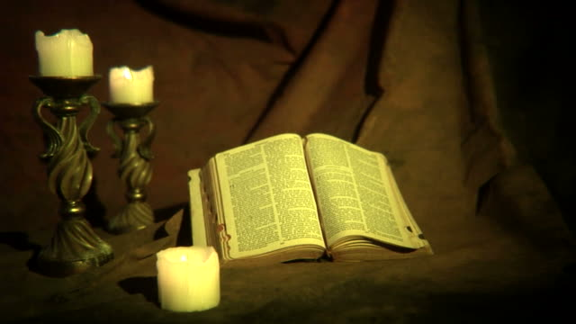 Bible and Candles video
