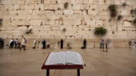 Bible book Wailing Wall Jerusalem video
