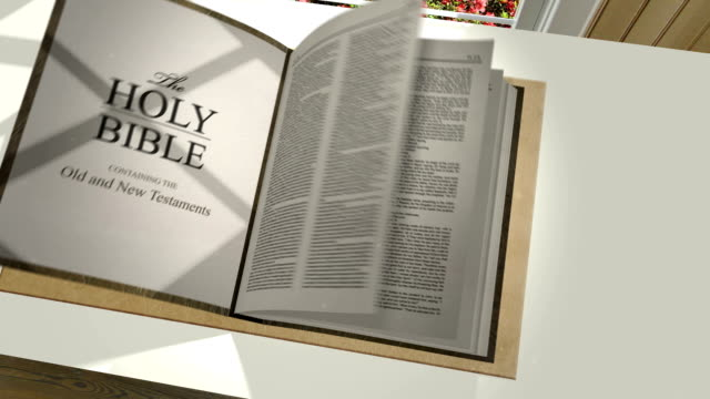 Bible Opening with Verse Reveal video