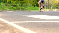 Bicycle disabilities in the park. video